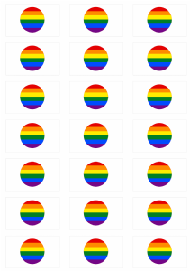 Japan Gay Pride Flag Stickers - 21 per sheet